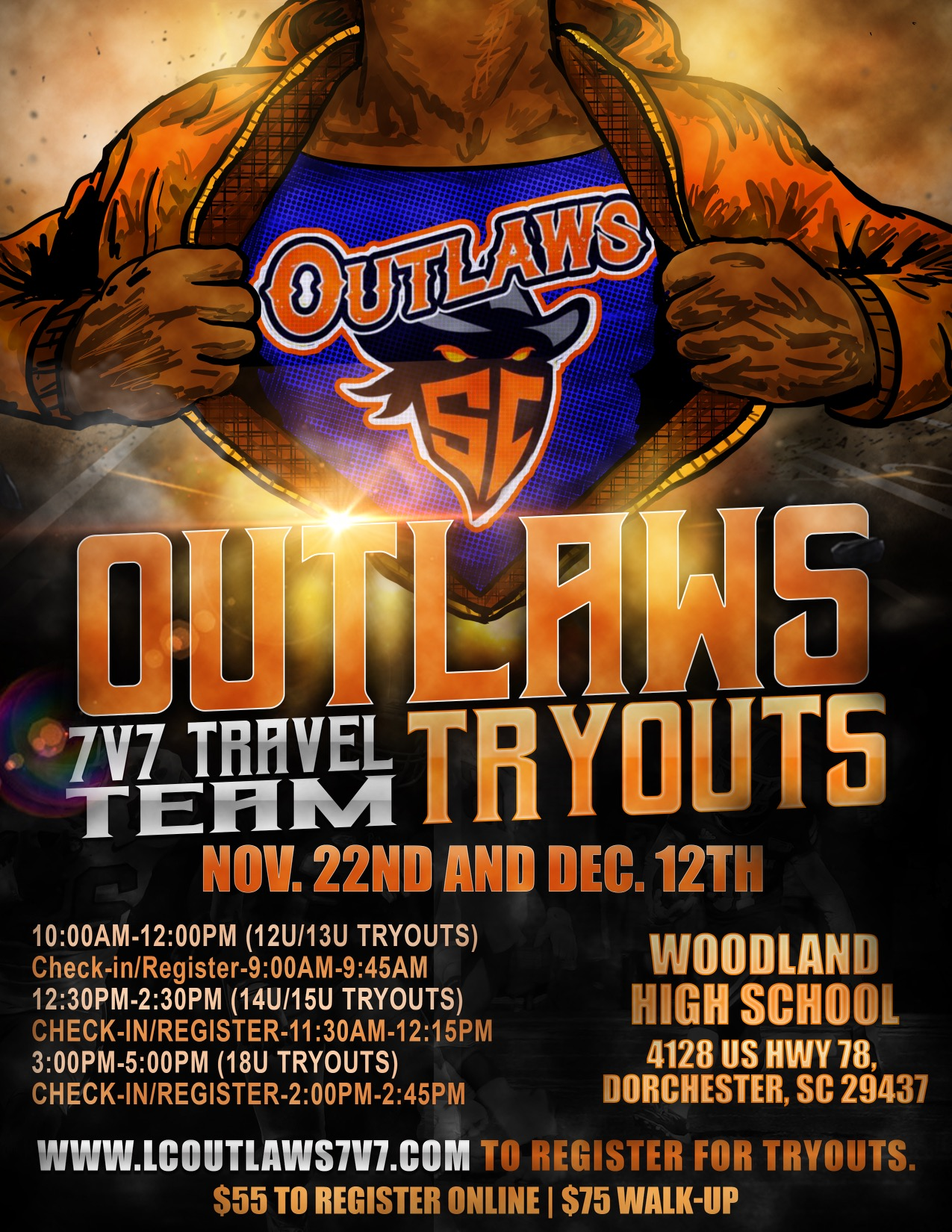 Outlaw tryout flyer september 2020 2